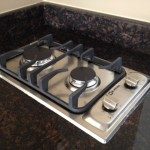 Gas Cooktop In Granite Countertop Installation